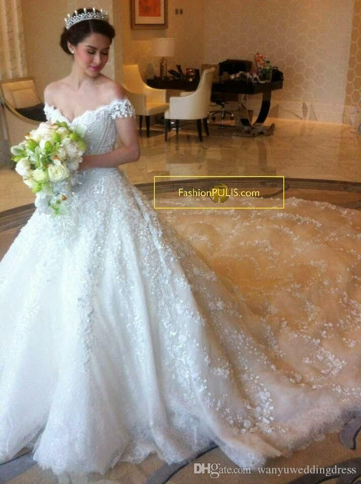 Luxury 2016 Bling Michael Cinco Wedding Dresses Ball Gown Tiered ...