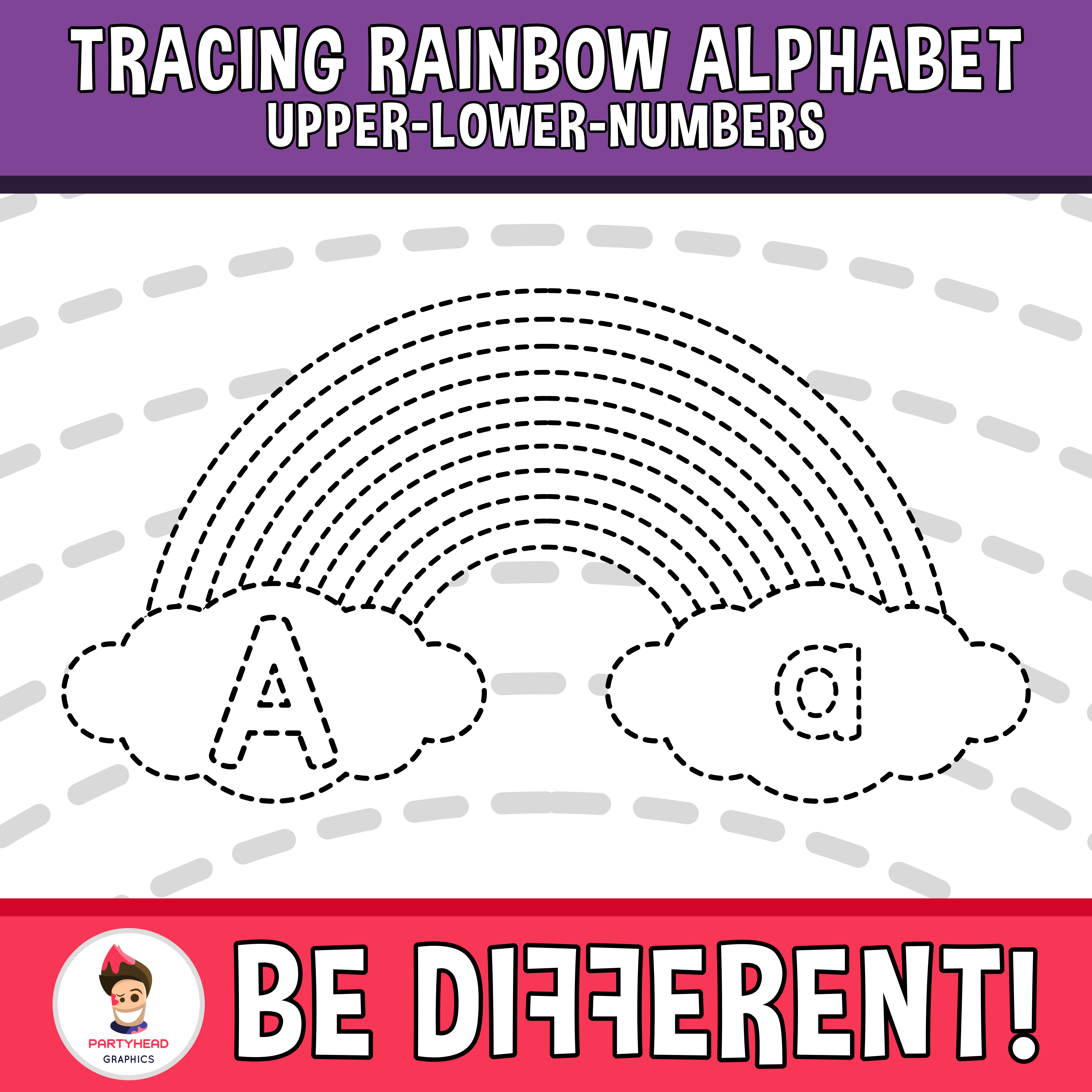 Tracing Rainbow Alphabet Clipart Letters 2 Fine Motor Skills Pencil Control Clip Art Lower Case Letters Clipart Letters
