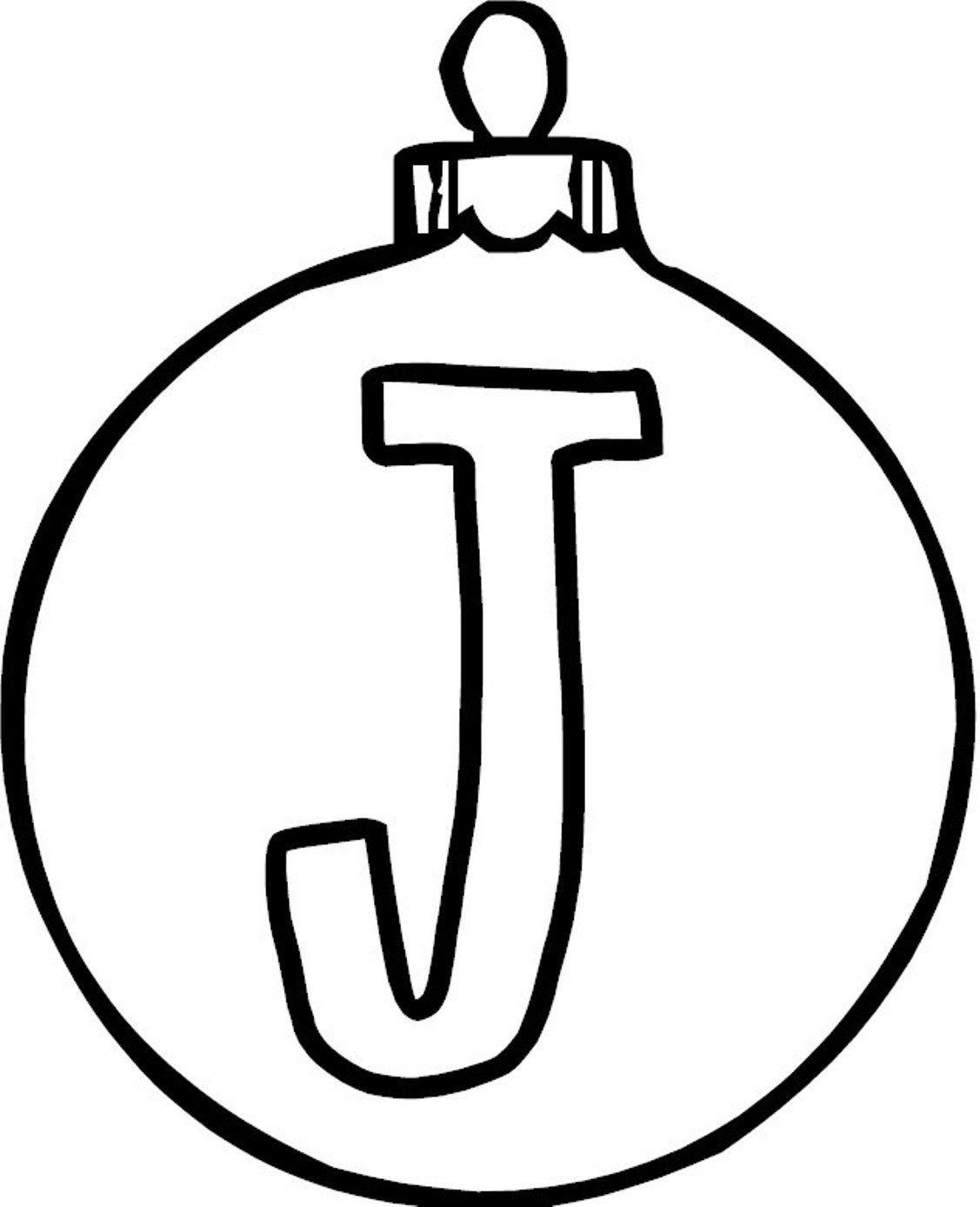 Alphabet Coloring, Ornament J Alphabet Coloring Page ...