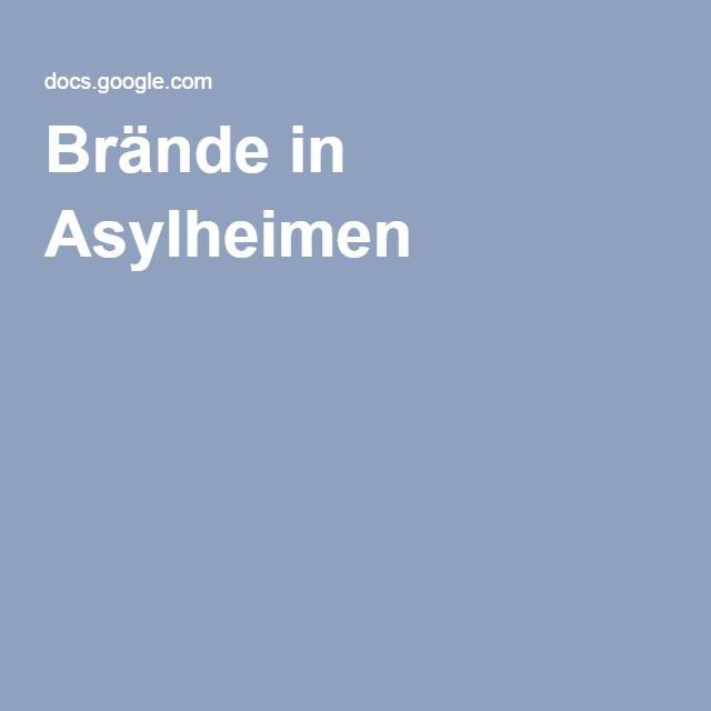 Brände in Asylheimen