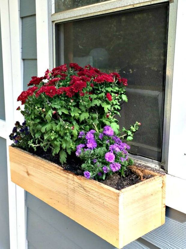 DIY Window Planter Box Ideas – 14 Easy Step by Step Plans #woodenflowerboxes