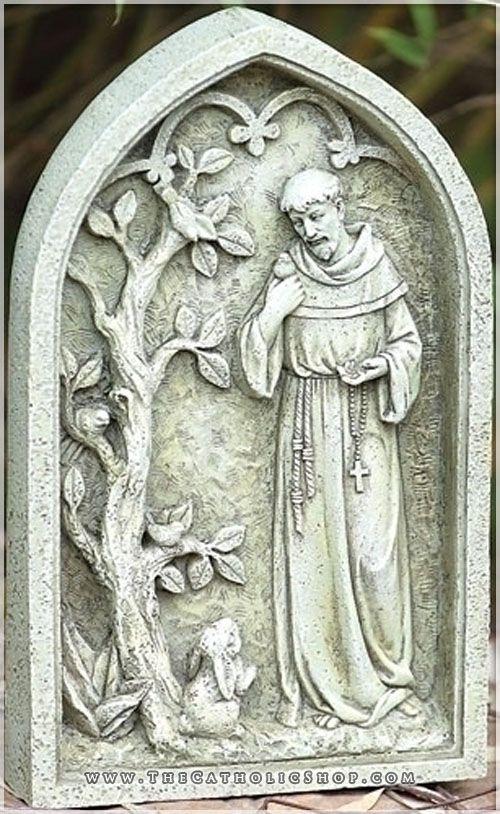 Saint Francis Plaque St Francis Garden Stones Patron Saint Of