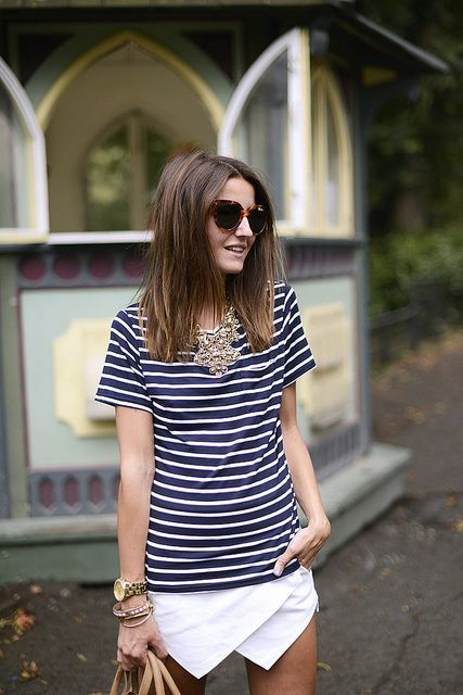 Love the stripes this spring! this would be a great casual outfit
