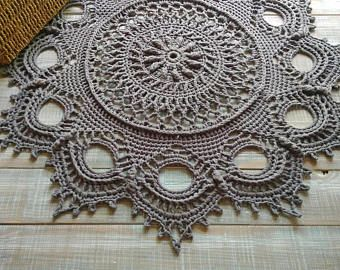 Doily Crochet Rug Cotton Giant Doily Crochet Carpet Doily Carpet Rug 26 Inch Crochet Lace Rug Circle Crochet Crochet Carpet Crochet Rug Crochet Doily Patterns