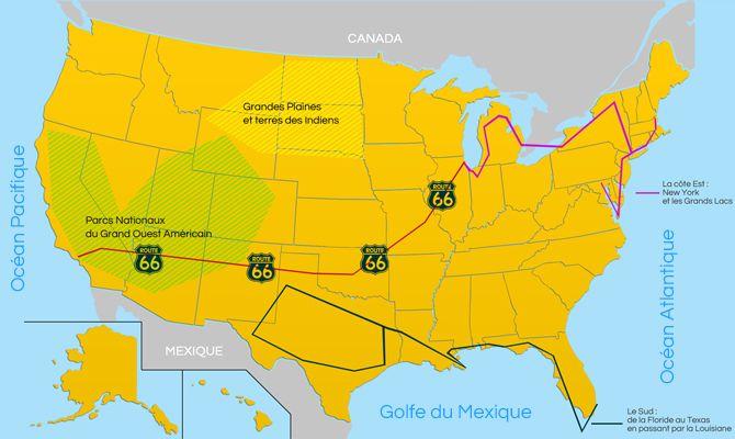 Carte Tourisme Etats Unis Carte Etats Unis Carte Etats Unis
