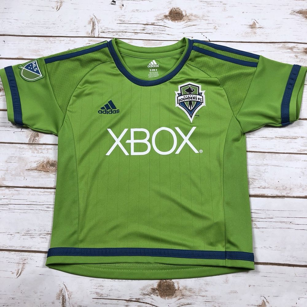219a4e3f3b2 Adidas Seattle Sounders MLS Soccer Jersey Childrens Boys Size 4T Lime Green  Xbox