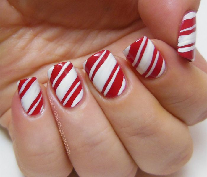 15 Stunning Christmas Nail Designs To Make Your Day Candy Cane
