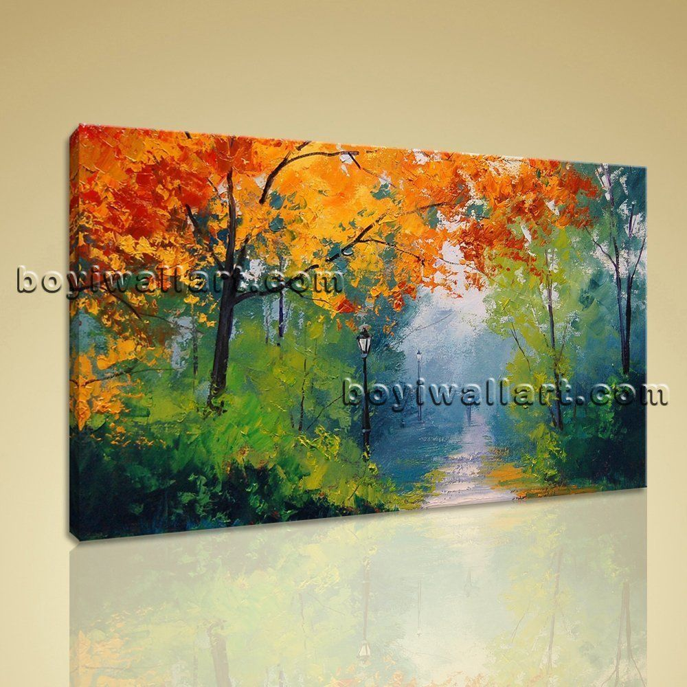 Large autumn paintings landscape contemporary wall art on canvas