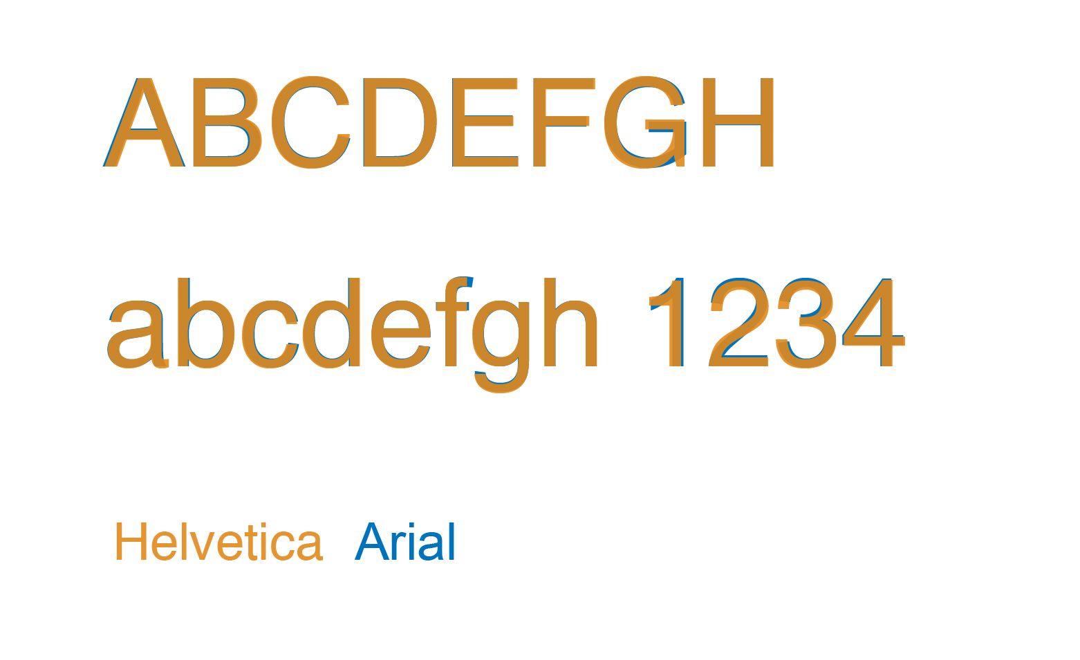 Helvetica X Arial imagens)