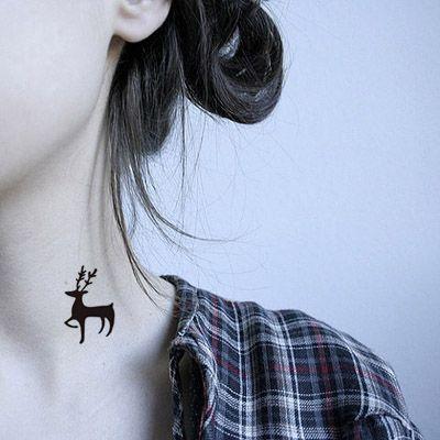 Tattoo ink-small tattoo for girl- cute deer temporary tattoo