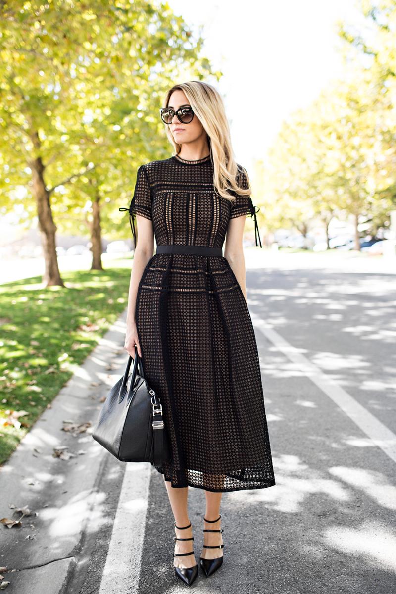 Blackout Outfit Envy Self Portrait Dress Funeral