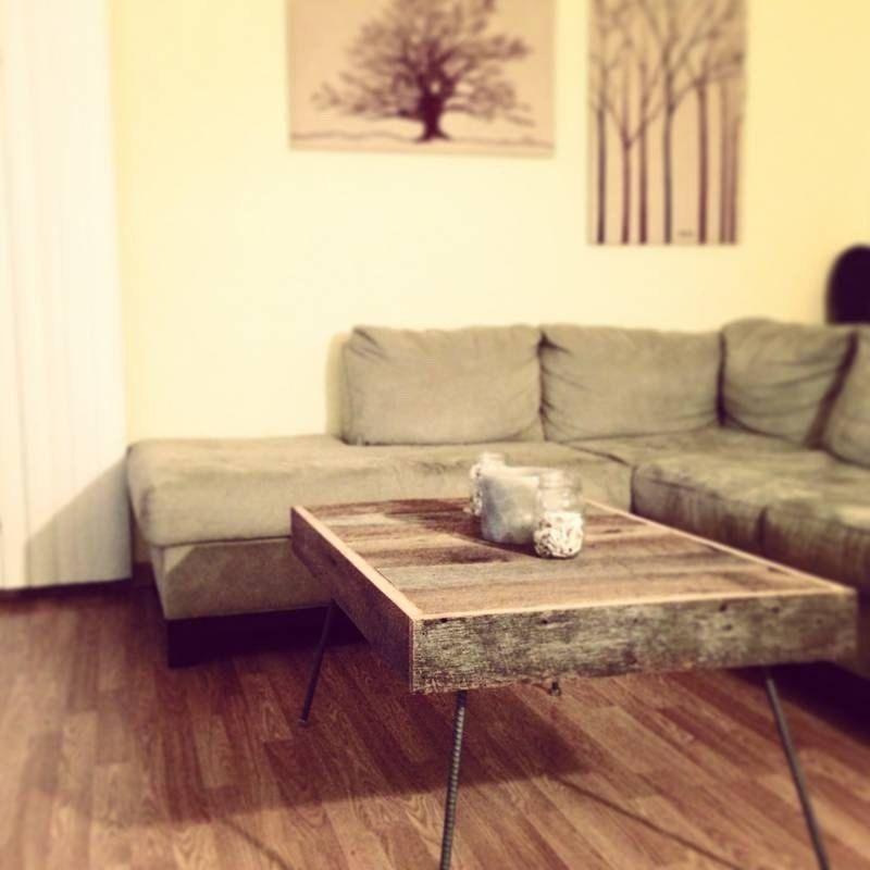 Barnwood coffee table modern vintage reclaimed