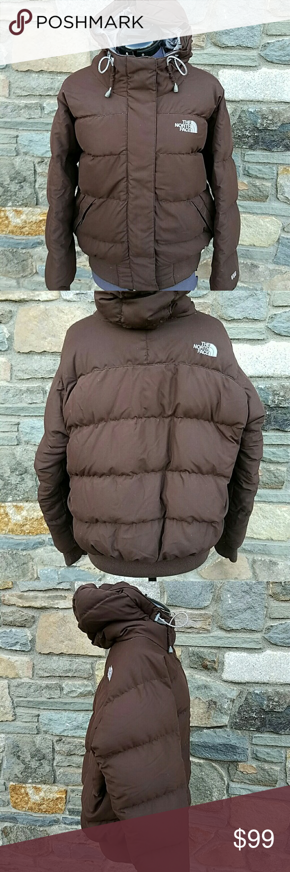 The North Face 550 down puffer jacket with hood Full zip