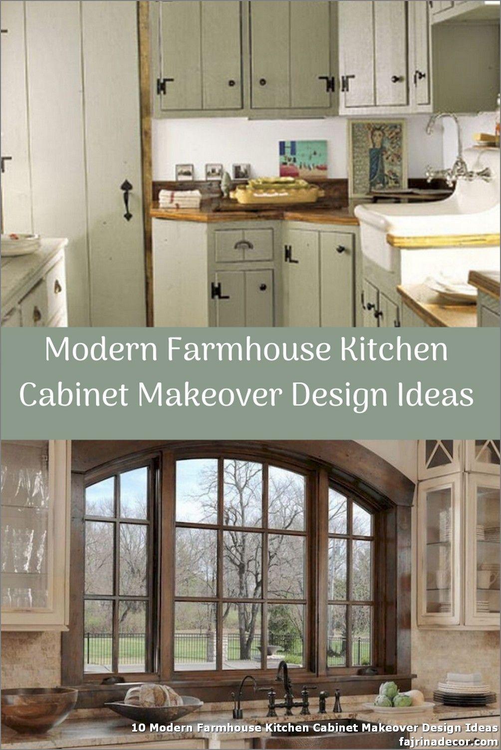 10 Modern Farmhouse Kitchen Cabinet Makeover Design Ideas In 2020 Farmhouse Kitchen Cabinets Modern Farmhouse Kitchens Kitchen Cabinets Makeover