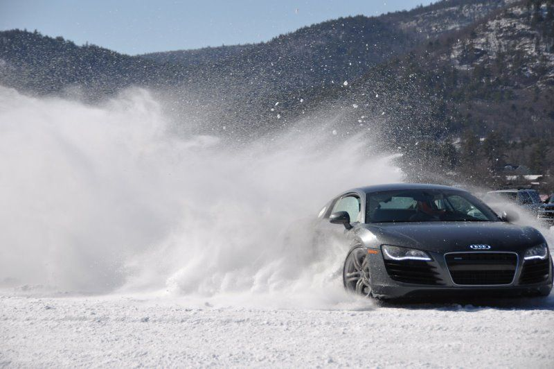 Audi R8 In The Snow Drifting Cars Sports Cars Luxury Audi
