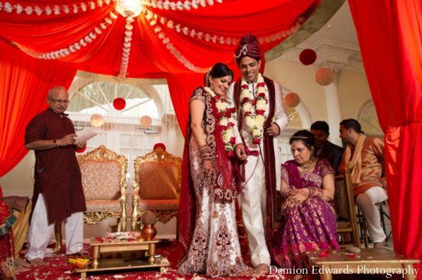 indian wedding bride groom ceremony traditional http://maharaniweddings.com/gallery/photo/4989