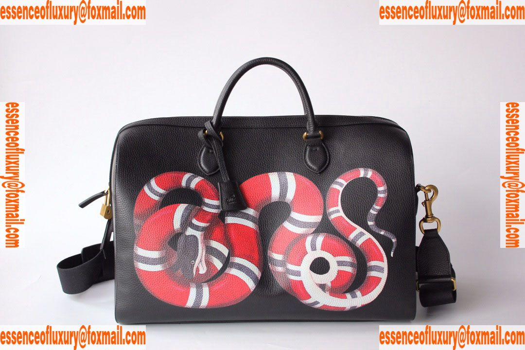 6b7bb66c571922 Replica Mens Handbags Gucci Kingsnake Print Leather Duffle Mens Bag Gucci  Knockoff Bags 495476 45x28x25CM A156PP1050 AA76653