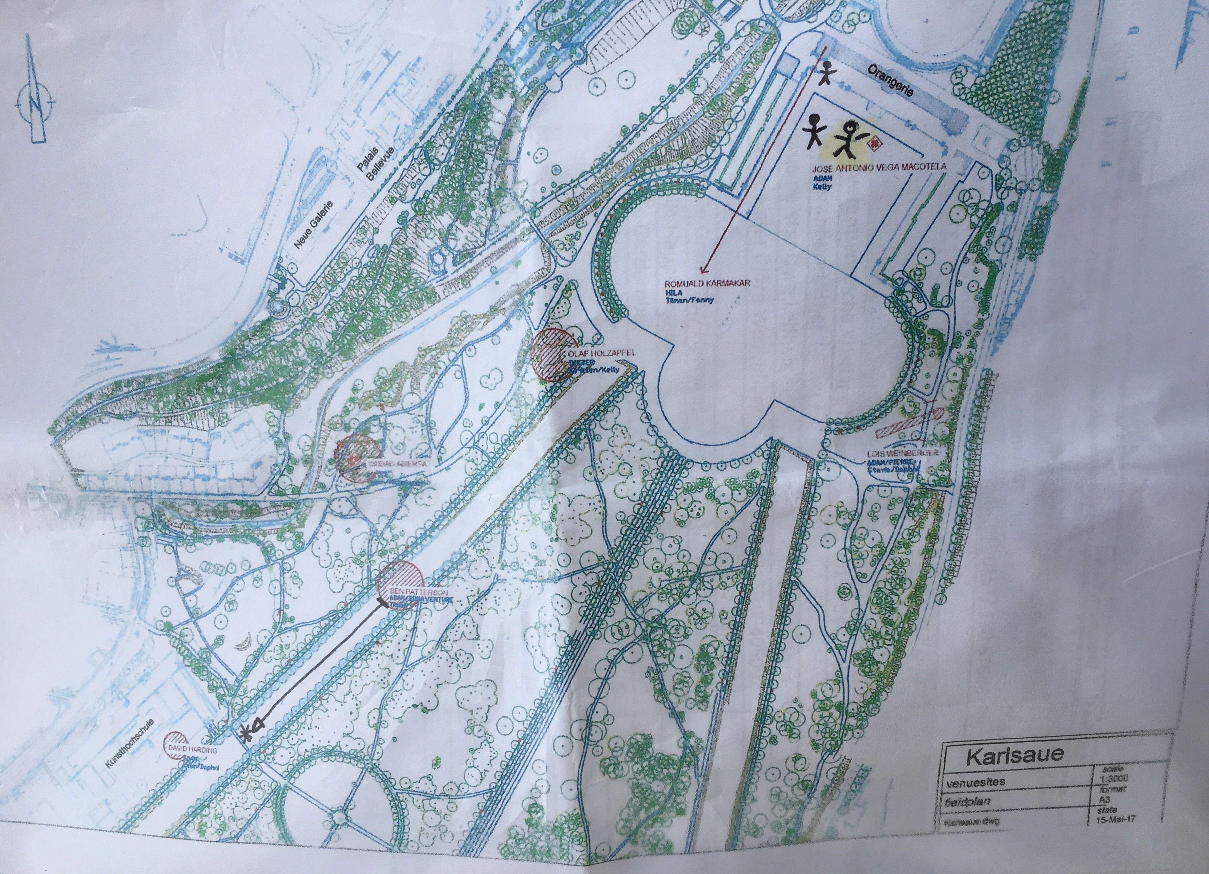 Here S The Map Of Documenta 14 Works In Karlsraue Park In Kassel Artnews Kassel Map It Works