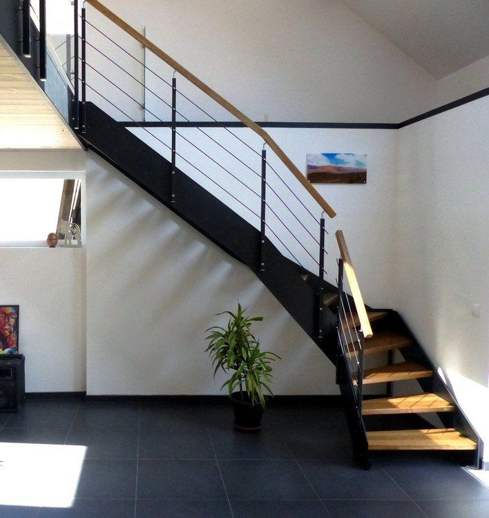 escalier loft quart tournant avec doubles limons droits m tal escalier quart tournant. Black Bedroom Furniture Sets. Home Design Ideas