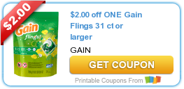 photo regarding Gain Printable Coupons named $2.00 off A single Revenue Flings 31 ct or much larger Discount coupons Income