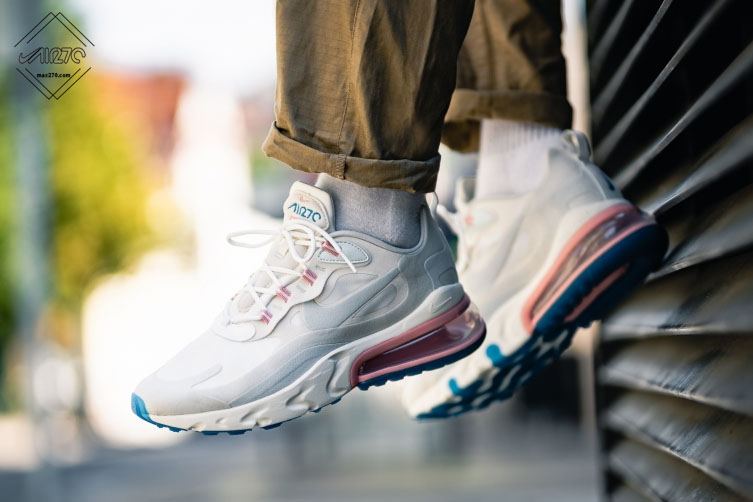 air max 270 react sneaker in summit white