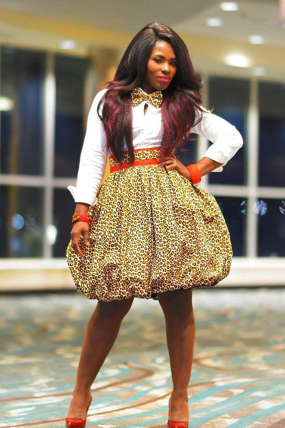 ea3c4439e09c6b Cheetah Print Bubble Skirt, Ankara Balloon Skirt, Balloon Skirt, Ankara  Skirt, African Skirt, Animal