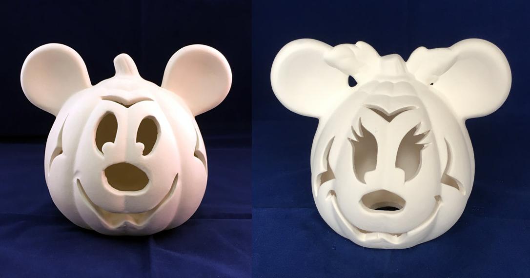 Paint Your Own Ceramic Disney Pumpkins For Halloween Disney Pumpkin Halloween Pumpkins Disney Home Decor