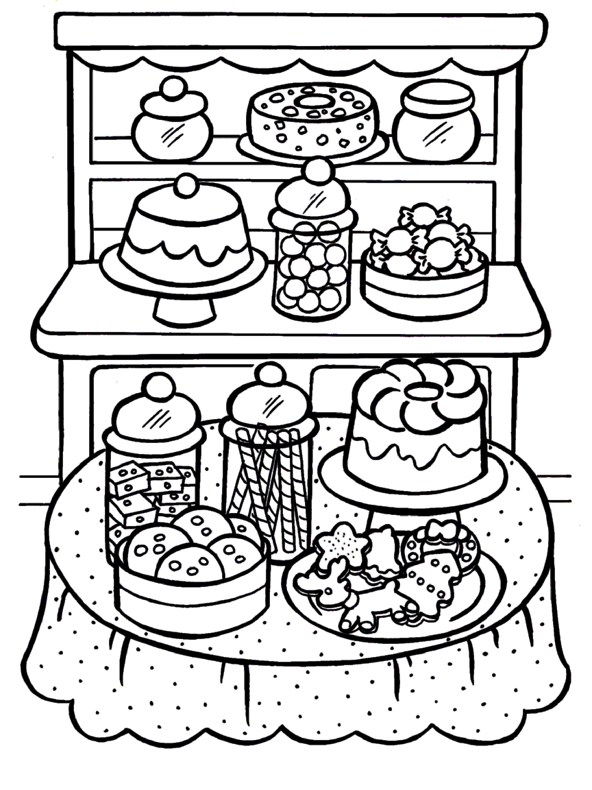 Coloring Pages Printable Food