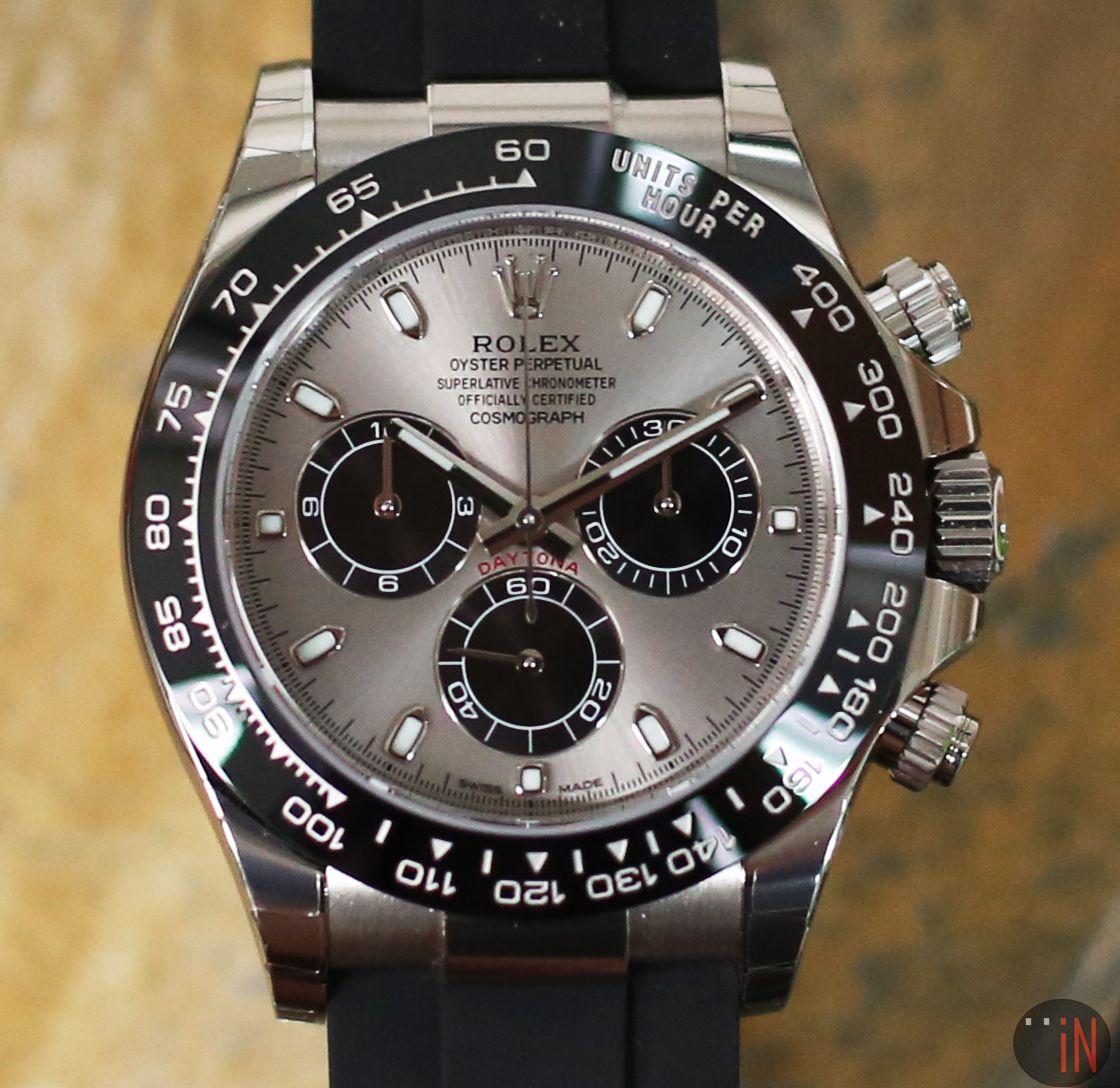 Hit The Road Rolex 40mm Daytona 18k White Gold Ceramic Bezel Ref 116519ln Oysterflex Rubber Strap Http Ww Luxury Watches For Men Rolex Rolex Daytona