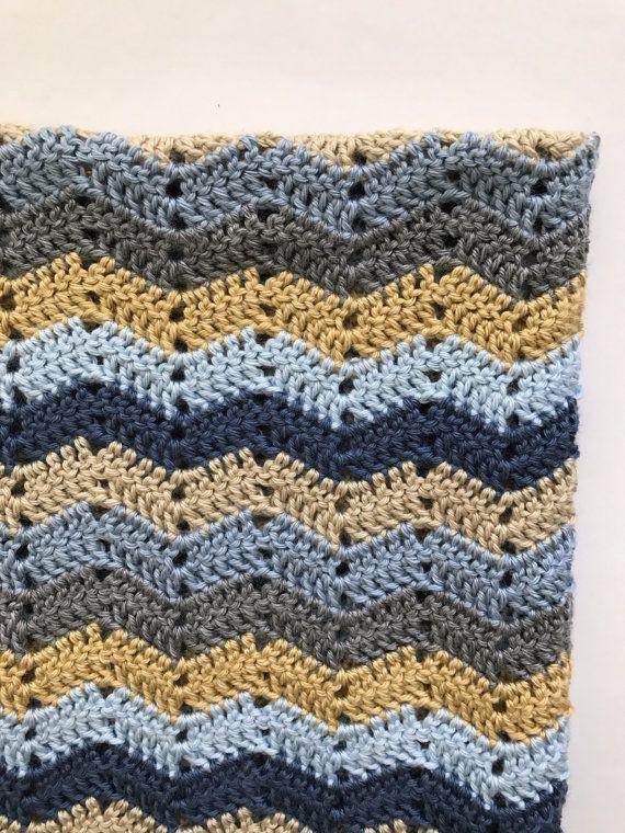 Crochet Baby Blanket Pattern Easy Ripple Baby Blanket Baby