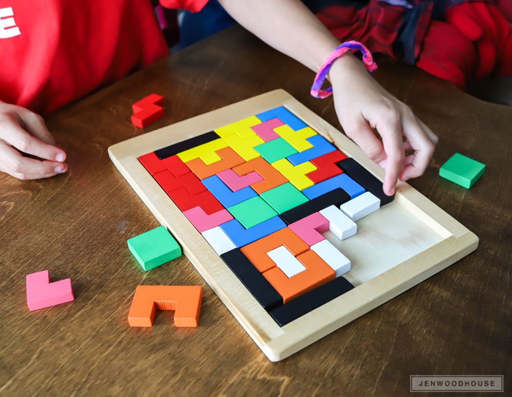 DIY Wood Tetris Puzzle Game