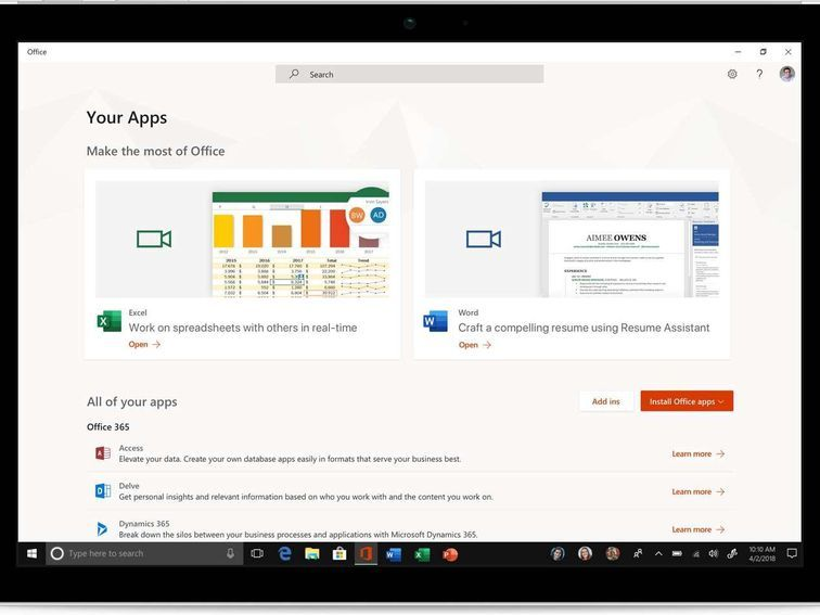 How to use the new Office app with Windows 10 Tech Tome