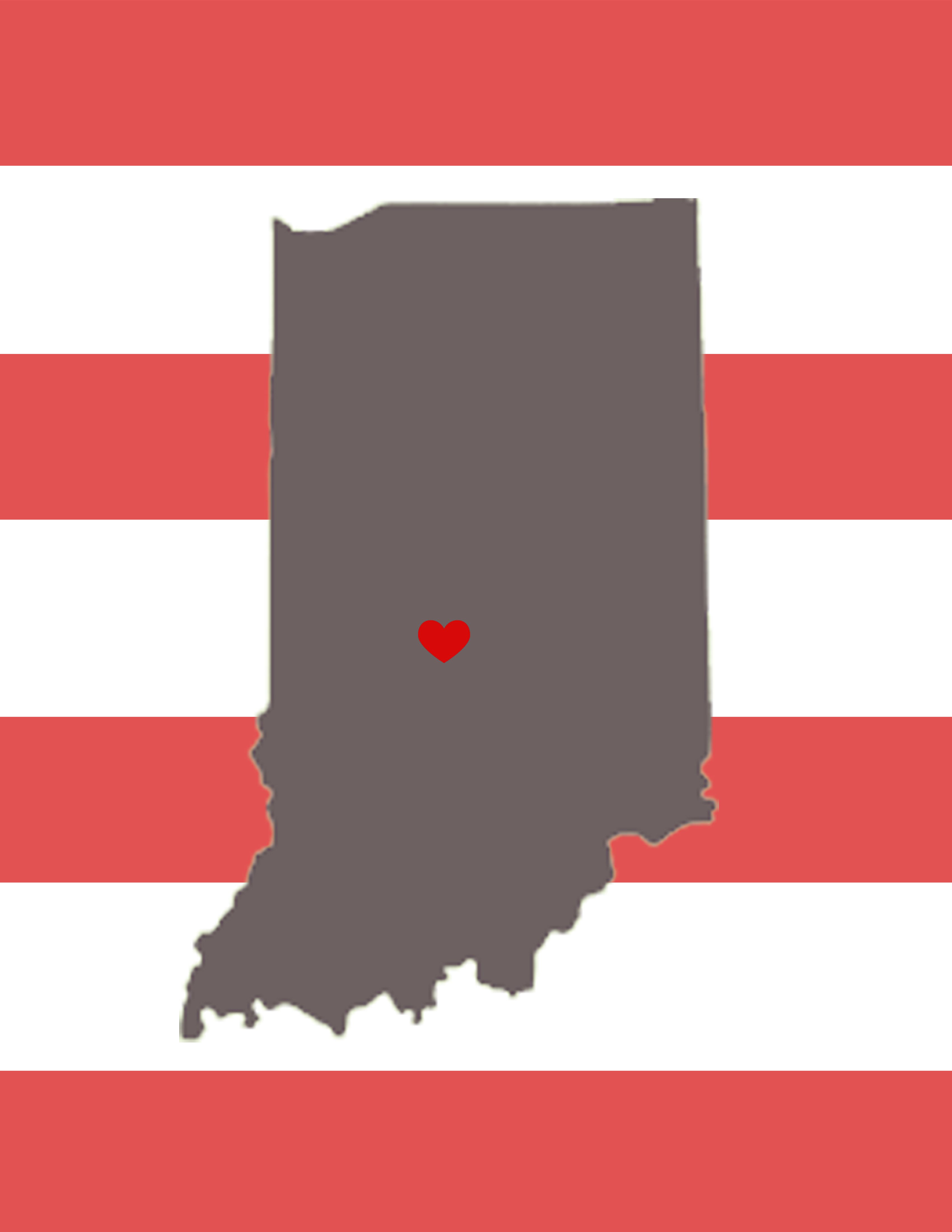 Created By Sarah Laborde Indiana State Printable Heart On Bloomington In Indiana University Go Hoosiers Want The Indiana University Indiana State Indiana