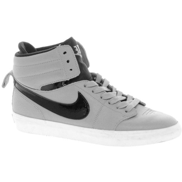 Shop Nike Hally Hoop Grey High Top Trainers at ASOS.