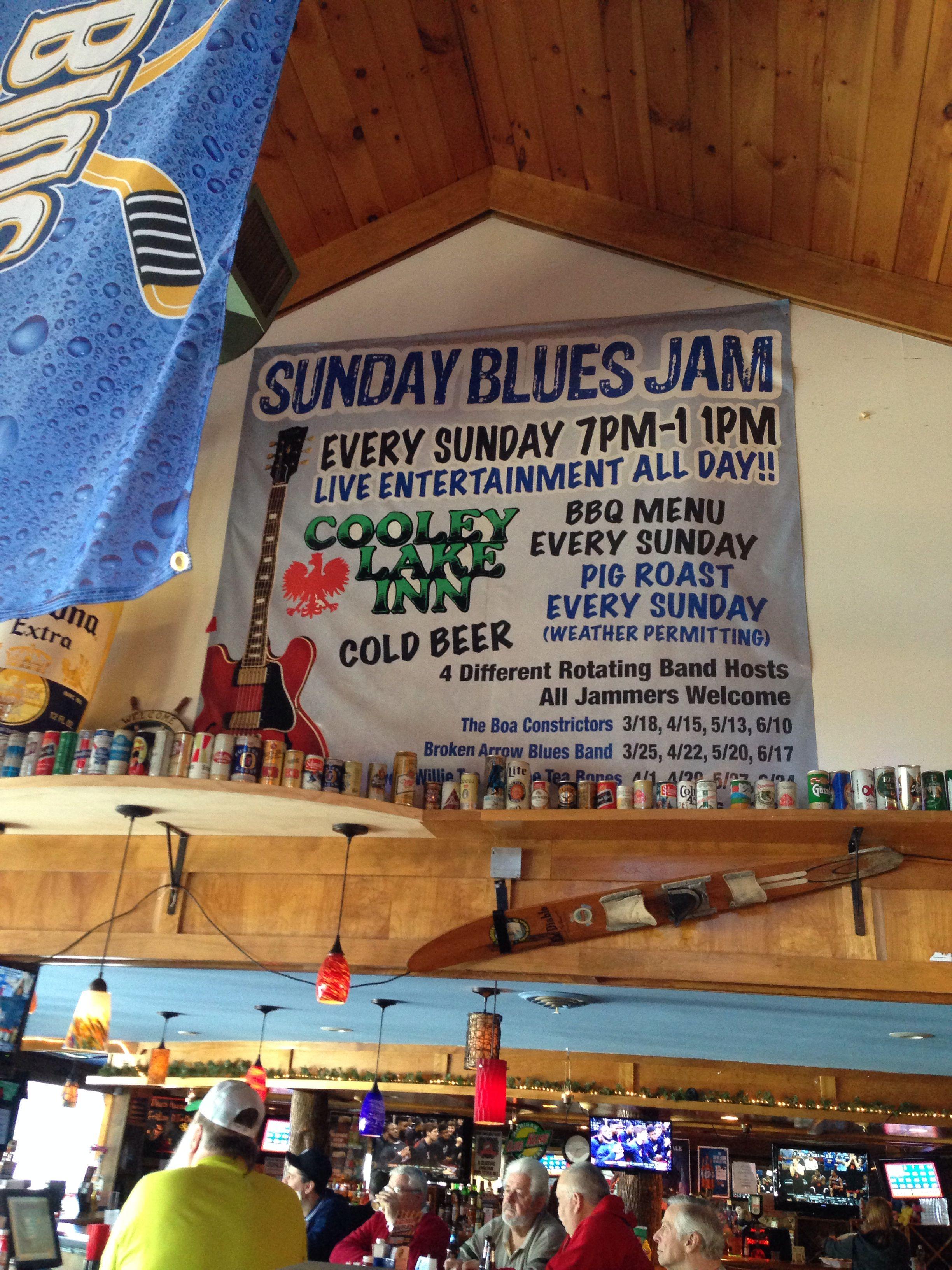 Cooley lake inn michigan bbq menu blue jam live