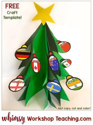 Christmas kindness around the world tree crafts school