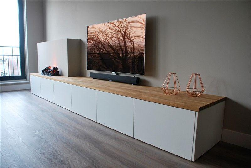Sfeerhaard Tv Meubel : Een strak meubel met opti myst sfeerhaard van faber. deze haard