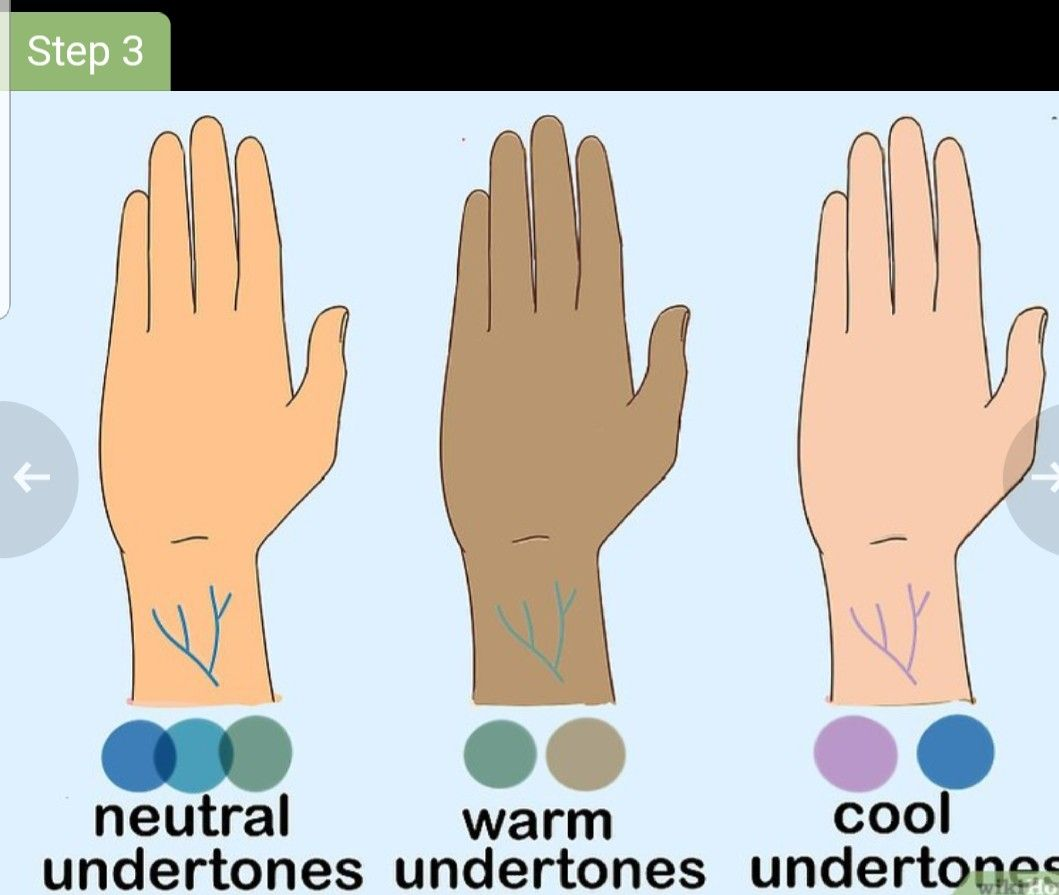 Use You Viens To Determine Your Undertone Determine Skin Tone Pale Skin Tone Skin Tone Hair Color