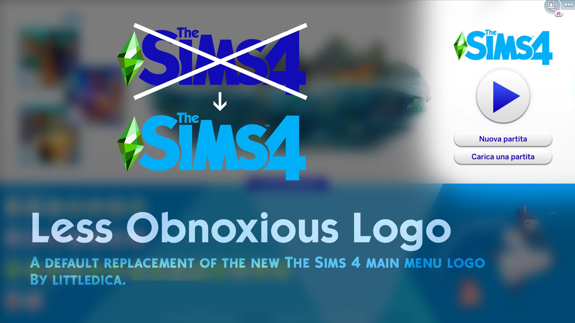 Mod The Sims The Sims 4 Logo Main Menu Override Sims 4 Sims Sims 4 Mods