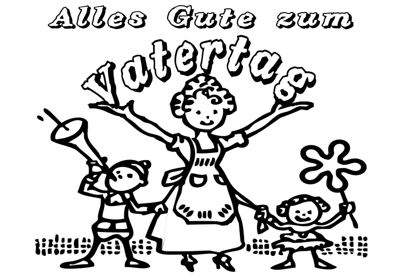 Ausmalbilder zum Vatertag - Malvorlagen kostenlos | Vatertag ...