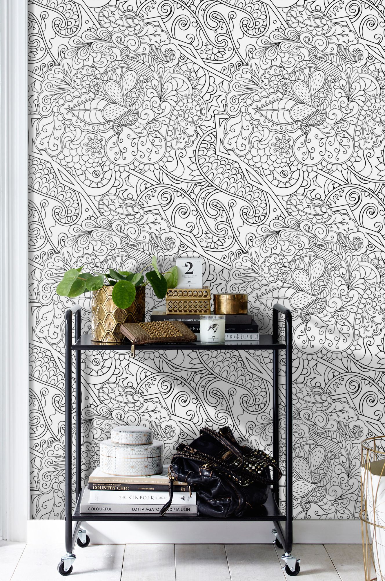 Persian Colouring Book Removable Wallpaper | Abstract wall murals ...