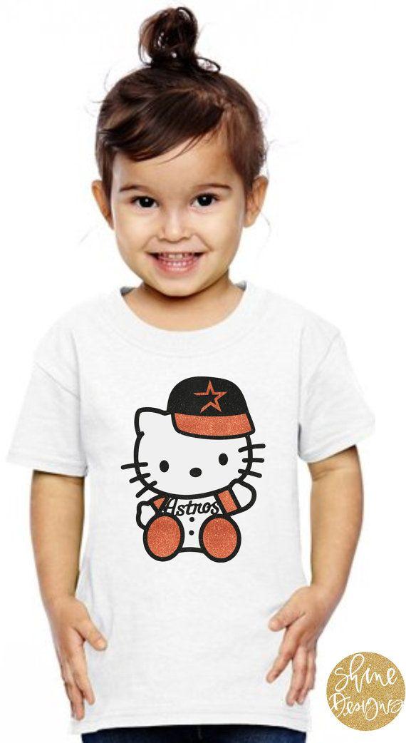 quality design de071 ea6df Hello Kitty Houston Astros Baseball Glitter by ...