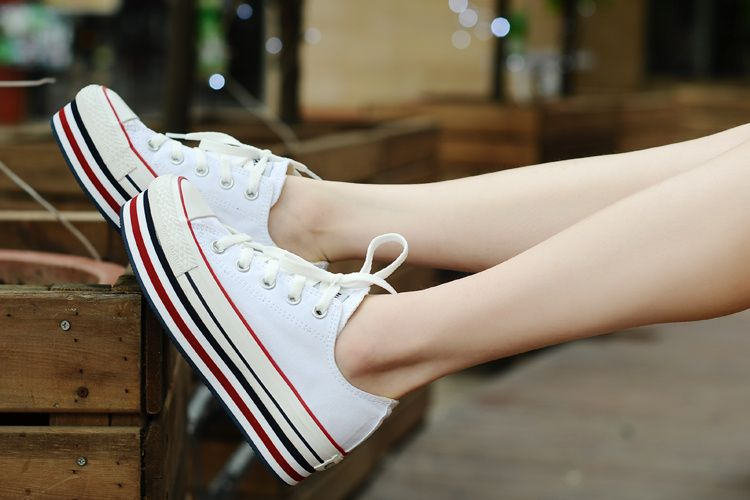 7ff4ffd656af0c Converse Chuck Taylor All Star White Double Platform Low Tops Canvas Women  Sneakers  converse  shoes
