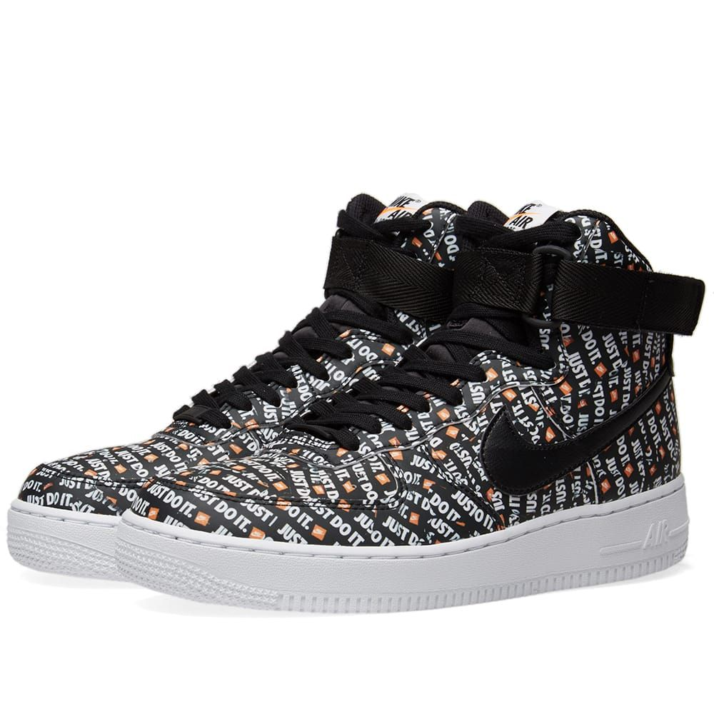 buy popular a706c 4dc1d Nike Air Force 1 Hi LX W Black, White   Orange   Tags  sneakers, high tops,  all over pattern