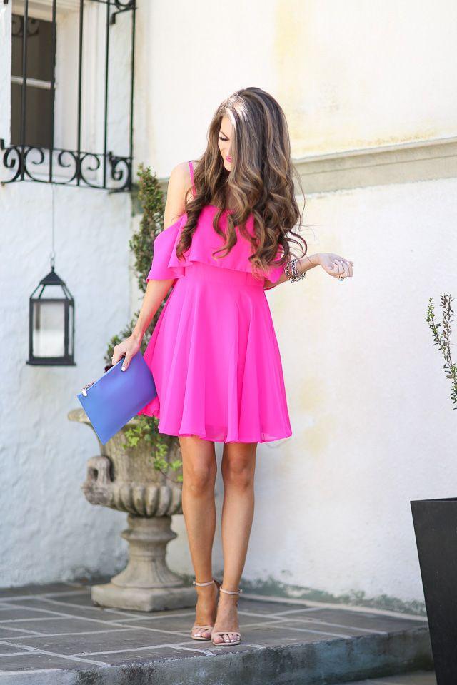 Hot Pink Hot Pink Dress Outfit Pink Dress Outfits Hot Pink Dresses