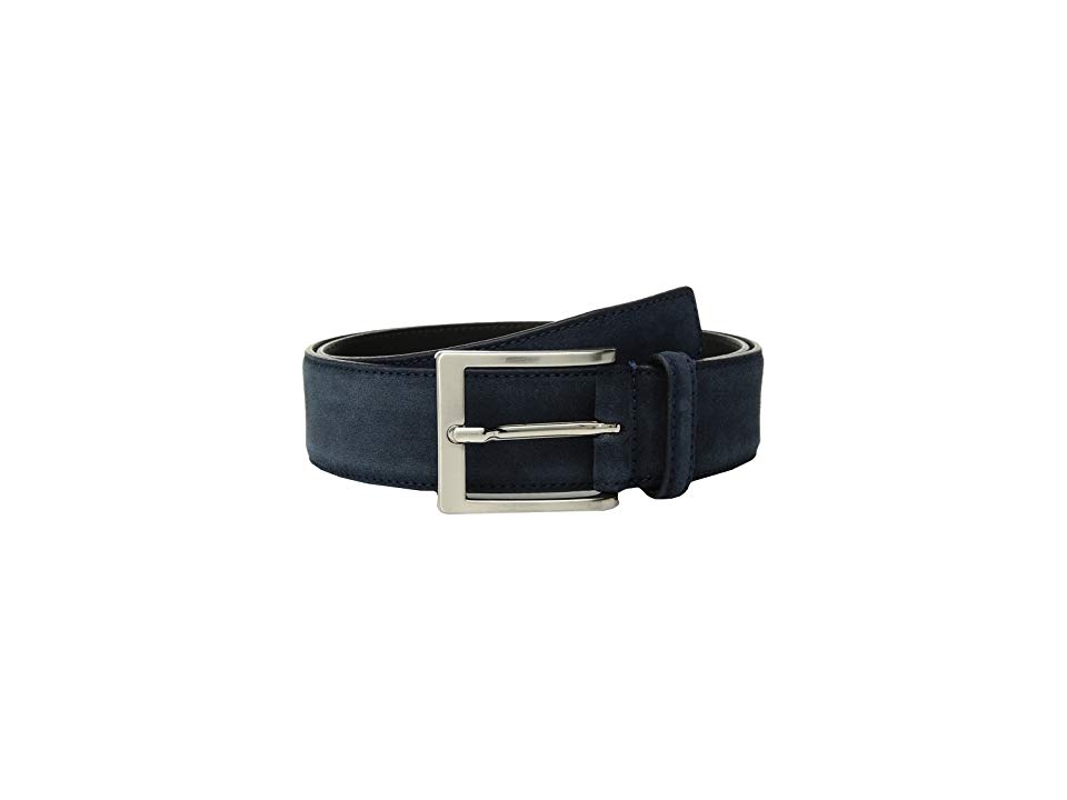 To Boot New York Belt Navy Blue Suede Mens Belts Look your best when you finish off your look with this stylish To Boot New York belt Made of genuine leather Buckle closu...