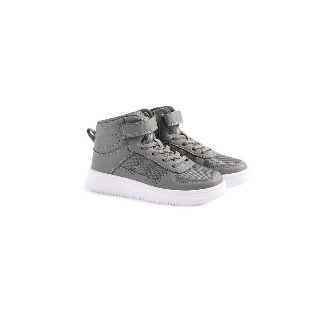 Younger Boy Grey Hi Top Trainers | Boys