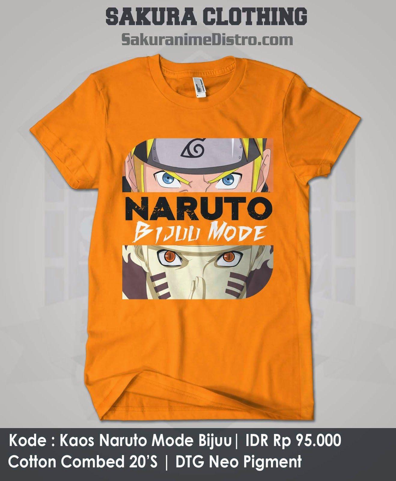 Jual Kaos Anime Naruto Mode Bijuu Minat hubungi