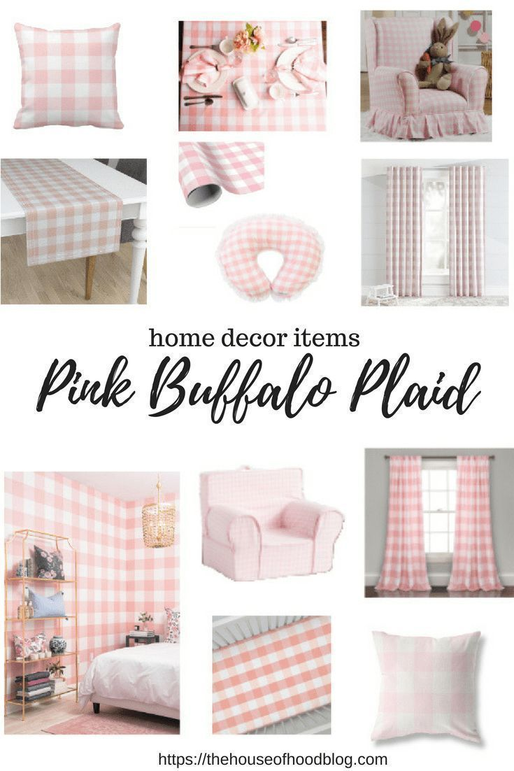 Pink Buffalo Plaid home decor is perfect for anywhere in your home! This print looks great as a pop of color in a living room, entry way, kitchen, or a bedroom. I am a sucker for blush, and this print is subtle and perfect. #homedecor #buffaloplaid #buffalocheck #blush #shabbychic #countrystyle #farmhouse #farmhousedecor #toddlerroom #nurserydecor