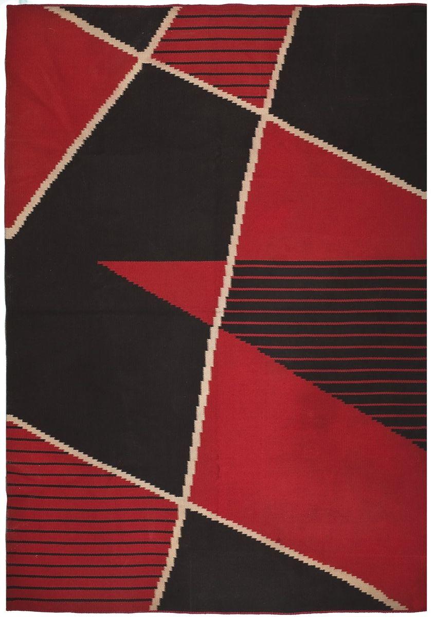 Antonin Kybal Hand Woven Wool Rug C1940 Rugged
